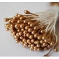Тычинки для цветов золотые, серебряные