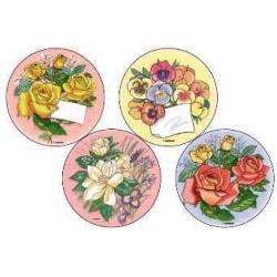 Вафельные пластины Цветы, 14,5 см