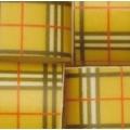 Переводилка-плёнка на шоколад Бежевая клетка
