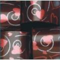 Переводилка-плёнка на шоколад Сердца с завитком