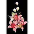 Букеты из мастики (18 см), Орхидеи.