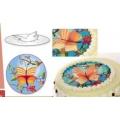 Вафельные пластины 3D Бабочка, 22 см