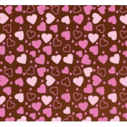 Переводилка-плёнка на шоколад Сердца (мелк)