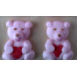 Сахарные украшения Мишка с сердцем