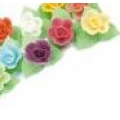Вафельные розы на трилистнике, 90 шт